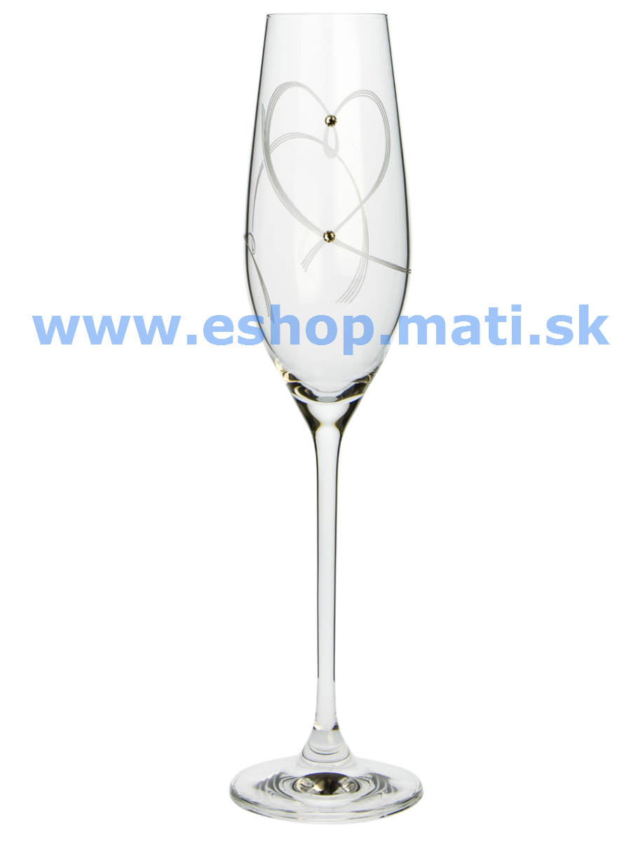 Flétne Celebration srdcia Swarovski Crytsals (2KS)25260