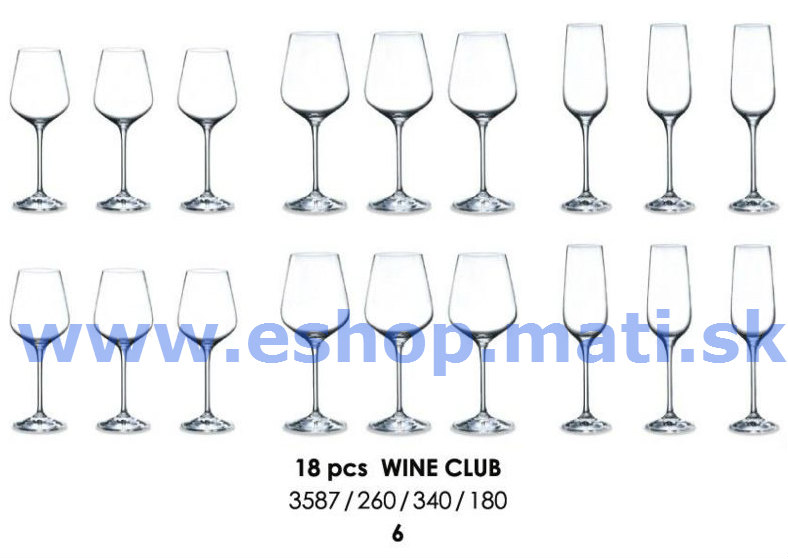 Wine Club set 18 dielny