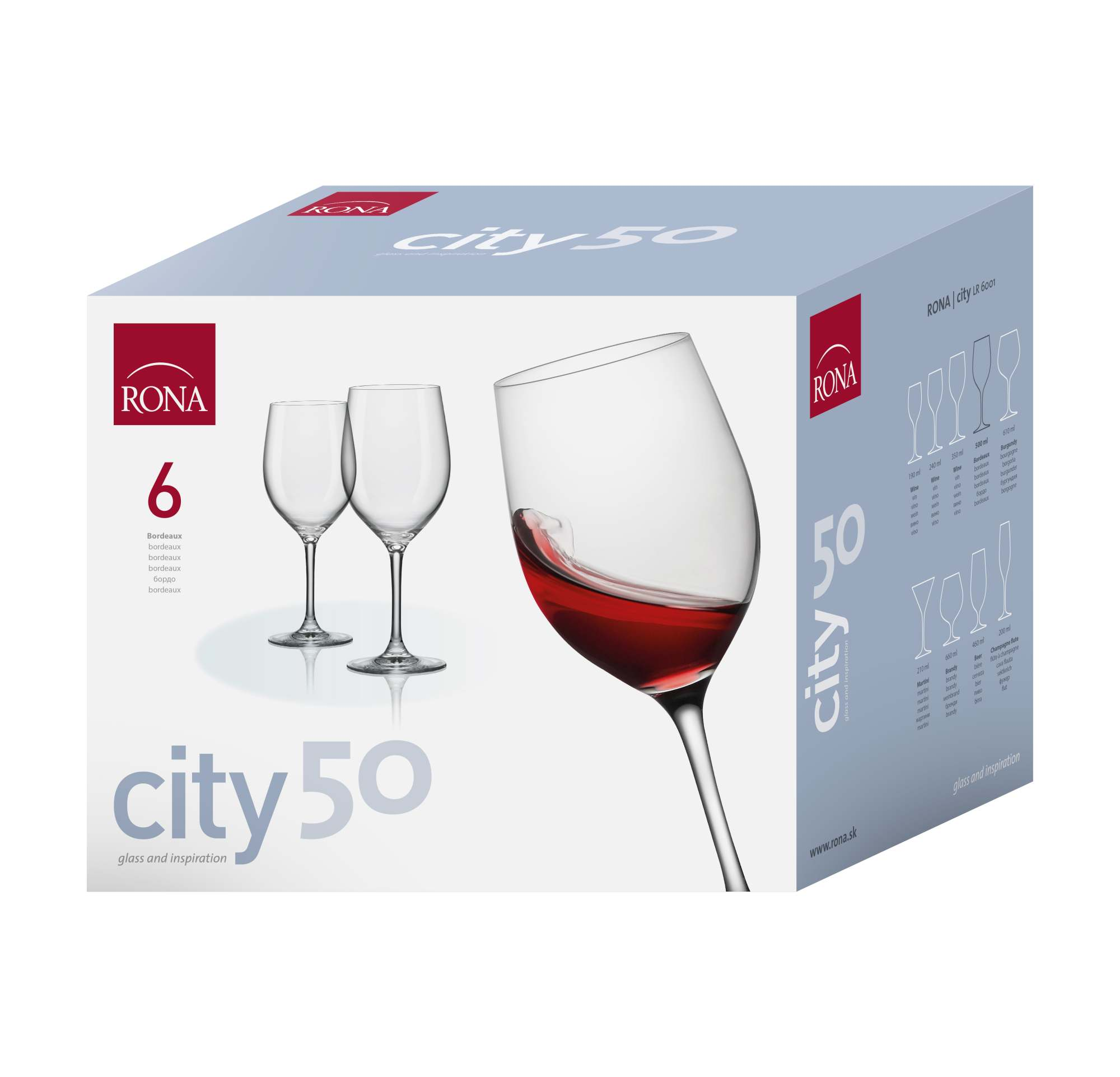City 610ml Burgundy (6KS)